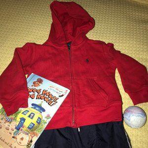 Polo by Ralph Lauren Red Hoodie Kids Sz 2-2T